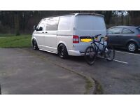 Vw transporter T5 T6 banded steel wheels., staggered, mint 17 inch, 5x120