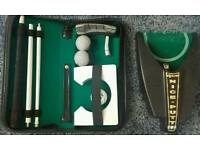 GOLF AUTO RETURN PUTTING MACHINE + TRAVEL PUTTING CASE SET