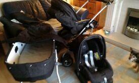 Mammas & Pappas 3 in 1 MPX Travel System Pram , Pushchair,car seat plus accessories