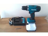 NEARLY NEW MAKITA 14.4V CORDLESS DRILL + 2 BATTERIES - NO CARRY CASE OR INSTRUCTIONS - RRP £100