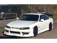 Nissan 200sx Silvia s14a drift car swap px bmw m3