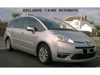 Citroen C4 Grand Picasso EXCLUSIVE 1.6 HDI Automatic , DIESEL , 7 seater