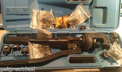Huskie R-5584 Hydraulic Compression Tool W Many Blades