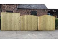 🥇Pressure Treated Wooden Garden Fence Panels
