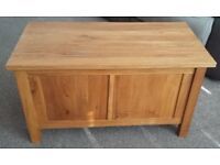 Solid Oak Blanket Box / Chest