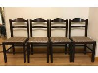 4 Wooden Chairs !