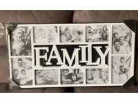 Large white multi frame for photos / pictures