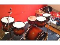 5 piece Dw Collectors series Satin oil Drumkit