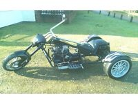 Low chopper style trike, professionally built and registered. MOT
