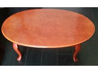oval coffee table. solid wood. In very good condition.