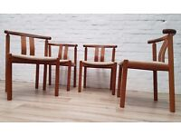 Four Mid-Century Dining Chairs (DELIVERY AVAILABLE)