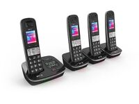 BT8500 Enhanced Call Blocker Cordless Home Phone - Quad Handset Pack
