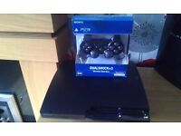 Ps3 console with dex/cex and sony dualshock 3 wireless controller rebug f/w