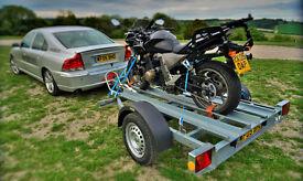 Twin Motor Bike Trailer 750kg