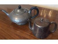 1 water pot and 1 Pewter Tea Pot