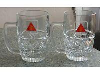 Bass Charrington glass beer mugs/ tankards