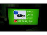 "40""FULL HD 1080P BLACK ALBA LCD TV, 3xHDMI, 1xUSB INPUT, FREEVIEW, VERY GOOD CONDITION"