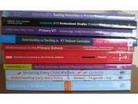 Academic books for Primary school teacher training. £2 - £10 each.