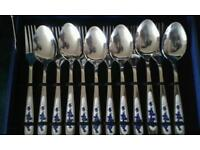Brand new cutlery set with case