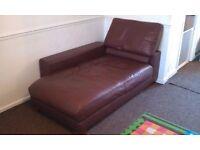 Italian NATUZZI relaxing leather Sofa settee