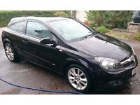 Black 2007 Vauxhall Astra 1.6 Sxi 3dr Coupe with MOT and Full Service History - Excellent Condition