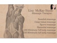 TUESDAY Relaxation massage , Deep tissue massage , Sports massage therapy. Hot Oils.