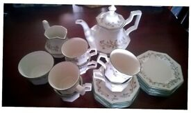 Brand new, Eternal Beau china tea set including side plates
