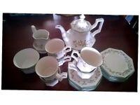 Brand new, Eternal Beau china tea set including side plates