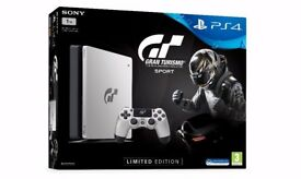 Sony PS4 Limited Edition Gran Turismo 1TB Console includes GT Sport Game