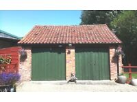1000 approx clay pantile terracotta reclaimed antique roof tiles + 18 Ridge