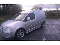 Silver VW Caddy Van 1.9 TDI 104