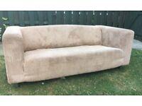 Ikea beige sofa, chenille material