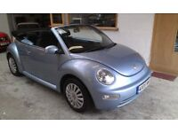 2005 VOLKSWAGEN BEETLE 1.6 CABRIOLE, VERY CLEAN LIKE NEW, SERVICE HISTORY, DRIVES VERY NICE