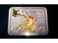 2 Packs Of 'Old Time Christmas Angels' Picture Playing Cards In Presentation Tin.