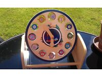 'IN THE NIGHT GARDEN' WOODEN CHILDREN'S COLOURFUL EDUCATIONAL CLOCK