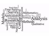 Statistical Help - Assignments & Dissertation - Matlab, R, SAS, Stata, SPSS, Minitab, EViews