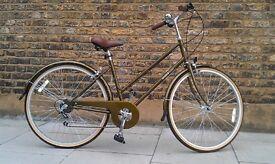 Bobbin Bramble Ladies Bicycle, size large, rare green/gold colour