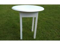 VINTAGE COFFEE/SIDE TABLE WITH OVAL TOP JUST PAINTED