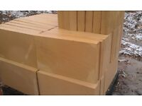 Sandstone natural yellow sawn blocks