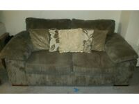 Brown Sofa & Chair