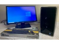 SSD Dell Inspiron I5 Quad Computer Desktop Pc With Dell Widescreen 22 LCD