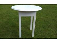 VINTAGE COFFEE/SIDE TABLE WITH OVAL TOP, JUST PAINTED