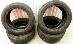 (ZH90) 4 Pneus Hiver - 4 Winter Tires Staggered 2x 255-45-19 2x 285-40-19 Michelin 7-9/32