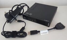 LENOVO ThinkCentre M83, i3-4130T, 4GB RAM, 128GB SSD, Intel HD 4400, Win 10 Pro
