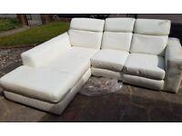 Corner Sofa Leather Aqua White Furniture Village