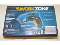 Workzone 3.6V Li-Ion Cordless Screwdriver With Detachable Cartridge and 6 Bits