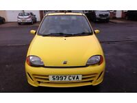 FIAT SEICENTO SPORTING, MOT Jan 2017, stereo KENWOOD with USB, new tyres