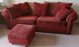 3 Piece sofa plus footstool - Free :-)