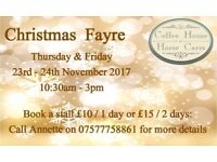 Christmas Market with stalls available at the Coffee House