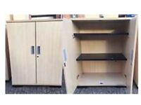 Maple office cupboards 82w 50d 106h cm. Ideal office cupboards, two doors, shelves adjustable.